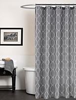 Modern Grey Geometric Shower Curtain 71x72inch,71x79inch