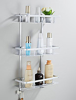 Contemporary Space Aluminum Anodizing Wall Mounted Bathroom Shelf