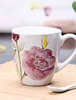 500 ml de grande capacité peinte à la main en céramique marque de tasse de traitement de don de production tasse vaisselle