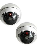 blanc sans fil faux factice dôme CCTV caméra de sécurité de kingneo rouge clignotant LED pour la maison ou le bureau commercial