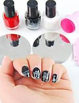 Nail Art Stamping Kit(2PCS  Random Image Template Plate, 1PC Stamper & 1PC Scraper,3PCS Special Nail Polish)