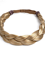 Chunky Synthetic Hair Braids Braided Headband Classic Wide Elastic Stretch Hairpiece Women Thick Beauty Accessory 55g