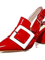 Women's Shoes Synthetic Chunky Heel Heels Heels Office & Career / Party & Evening / Dress / Casual Blue / Red