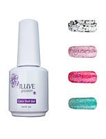 ILuve Gel Nail Polish Set - Pack Of 4 - Long Lasting 3 Weeks Soak Off UV Led Gel Varnish – For Nail Art #4060