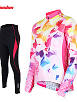 Tasdan Women's Cycling Clothing Cycling Sets  Cycling Jerseys Long sleeve  + Cycling Tight Pants