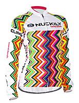 Top-Attività ricreative / Ciclismo-Per donna-Maniche lunghe-Traspirante / Resistenteai raggi UV / Permeabile all'umidità / Sacca interna
