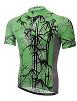 Jersey(Branco / Verde) - deCiclismo / Motorbike-Homens-Respirável / Resistente Raios Ultravioleta / Secagem Rápida / wicking /