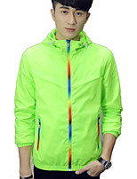 Men's Outdoor Leisure Long Sleeve Regular Trench coat,Polyester Pure / Color Block