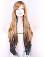 Flax Gradient Green COSPLAY Long Straight Hair Wig