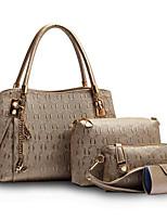Women PU Baguette Shoulder Bag / Tote-White / Blue / Gold / Black