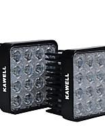kawell® 2 pack 48w quadrado 4,3