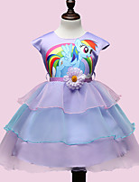 Girl's Summer Cartoon Pattern little horse Princess Formal Dress