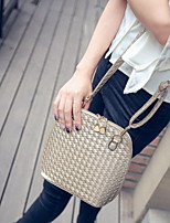 Fashion Women PU / Polyester Weave Shell Shoulder Bag / Tote-Multi-color