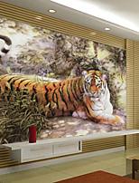 Décoration artistique Papier peint Classique Revêtement,Autre Large Mural Wallpaper Tiger