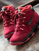 Scarpe Donna-Sneakers alla moda-Tempo libero / Casual / Sportivo-Comoda-Piatto-Raso elasticizzato-Nero / Rosso / Borgogna