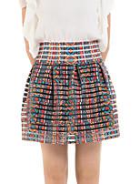 De las mujeres Faldas-Sobre la rodilla Bonito Microelástico-Rayón
