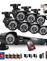 ANNKE® 8CH 1TB CCTV System 960H DVR 8PCS 800TVL IR Weatherproof Outdoor CCTV Camera Home Security Surveillance Kits