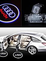 2pcs lampes LED logo porte ombre lampe de projection emblème laser de lumière de bienvenue de voiture pour audi a1 a3 a4 a5 a6 A6L tt r8