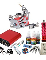 Basekey Tattoo Kit JH550 Gun Machine With Power Supply Grips 10ML Ink