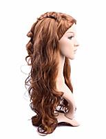 longs cheveux longueur armure européenne cheveux couleur brune perruque synthétique