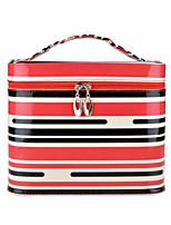 Women PU Professioanl Use Cosmetic Bag-Brown / Red / Black