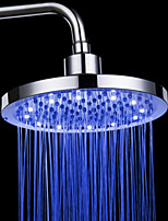 Monochrome LED Shower Nozzle Top Spray Shower Nozzle  (Blue) (8 Inch)