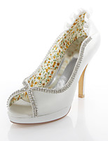 Women's Wedding Shoes Heels / Peep Toe Sandals Wedding / Party & Evening / Dress Ivory