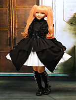 Steampunk®Cotton Black Halter Sleeveless Gothic Punk Lolita Dress JSK