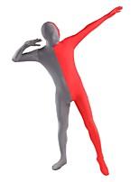 Unisex Multi-Color Zentai Suits Lycra / Spandex Red & Gray  Zentai
