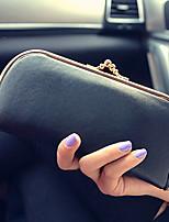 Bi-fold (due scomparti)-Pochette / Portafoglio / Porta carte di credito-Donna-PU-Verde / Marrone / Rosso / Nero