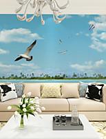Décoration artistique Papier peint Contemporain Revêtement,Autre Large Seagull Seascape Mural Wallpaper