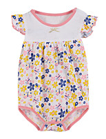 Girl's Pink Clothing Set Cotton Summer / Spring