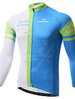 Jersey(Azul) - deCiclismo / Motorbike-Homens-Respirável / Resistente Raios Ultravioleta / Secagem Rápida / wicking / Antibacteriano- com