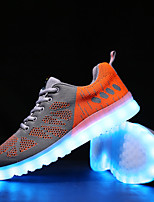 Men's Shoes Athletic / Casual Tulle Fashion Sneakers Green / Red / Orange