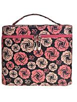 Women PU Professioanl Use Cosmetic Bag-Black