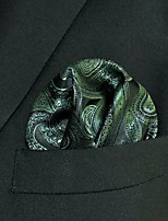 Men's Pocket Square Olive 100% Silk Wedding Business