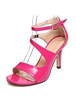 Women's Shoes Leatherette Stiletto Heel Heels Sandals Office & Career / Casual Black / Blue / Fuchsia / Almond