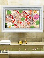 Animales / 3D Pegatinas de pared Calcomanías 3D para Pared,PVC 60*90cm