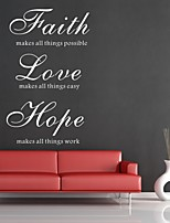 AYA™ DIY Wall Stickers Wall Decals, Faith Hope Love English Words & Quotes PVC Wall Stickers