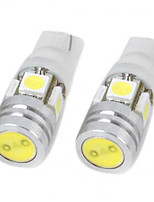 2pcs 12V 5W T10 5050 4SMD LED Reading Lamp, LED Door Lamp with Super Bright White