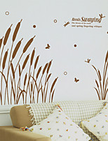 Wall Stickers Wall Decals Style Reed Grass PVC Wall Stickers
