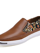 Men's Shoes Outdoor / Casual Nappa Leather Loafers Black / Brown