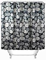 Modern Cobblestone Polyester Shower Curtains W71
