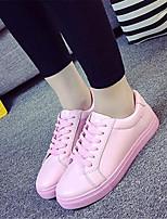 Scarpe Donna-Sneakers alla moda-Tempo libero / Casual / Sportivo-Comoda-Piatto-Finta pelle-Nero / Rosa / Bianco