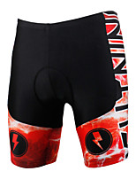 PALADINSPORT New Men's Cycling Shorts Bike TROUSERS with 3D Pad Lycra DK616 red lightning