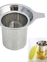 Stainless Steel Mesh Cup Durable Tea Infuser Reusable Strainer Herbal Locking Filter