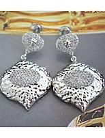 High quality platinum plated diamond drop ear hook