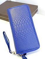 Tri-fold (tre scomparti)-Pochette / Portafoglio / Porta carte di credito-Donna-Vacchetta-Blu / Marrone / Rosso / Nero / Borgogna