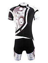 PaladinSport Men 's Cycyling Jersey + Shorts Bike Suits for DT618  machinery black