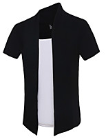 Men's Short Sleeve T-Shirt,Cotton Casual / Sport Patchwork